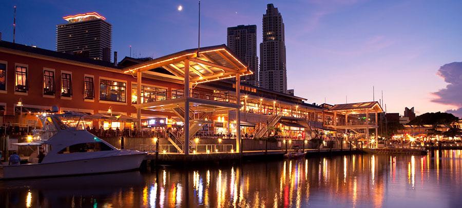 Miami City Tours Bayside at Night